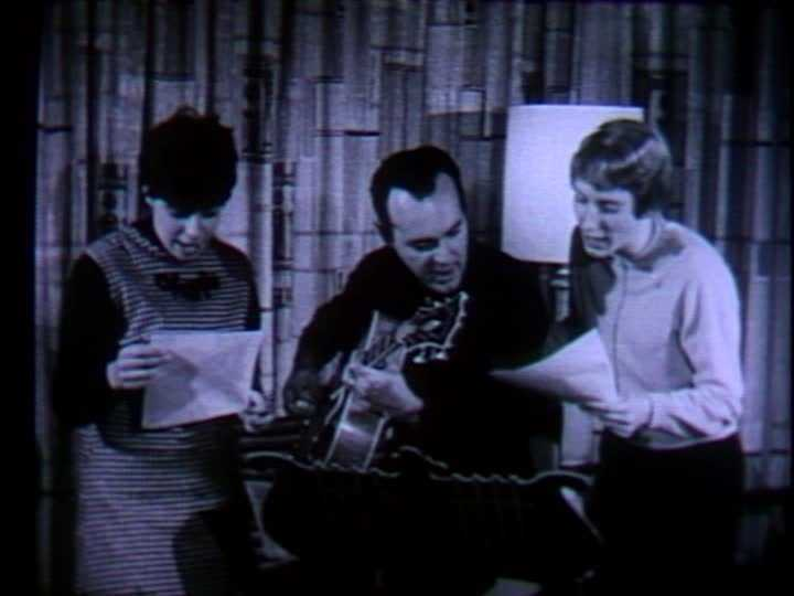 """Joe Negri was the WTAE musical director and appeared on some children's shows. Here, he's joined by two singers to record the """"Fourzapoppin"""" jingle. It was used in a station promotional campaign in the 1960s."""