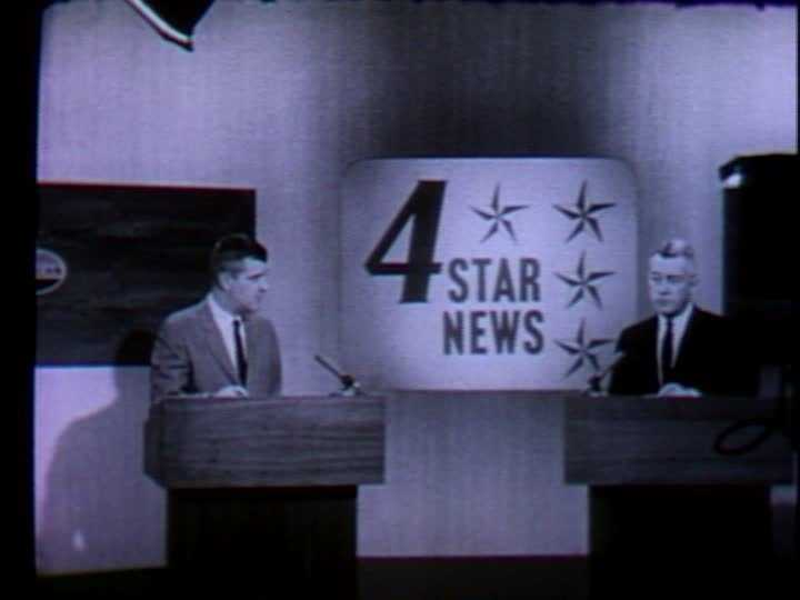 """Carl Ide (right) and Ed Conway (left) anchored the """"4 Star News"""" on WTAE every night at 7 p.m."""