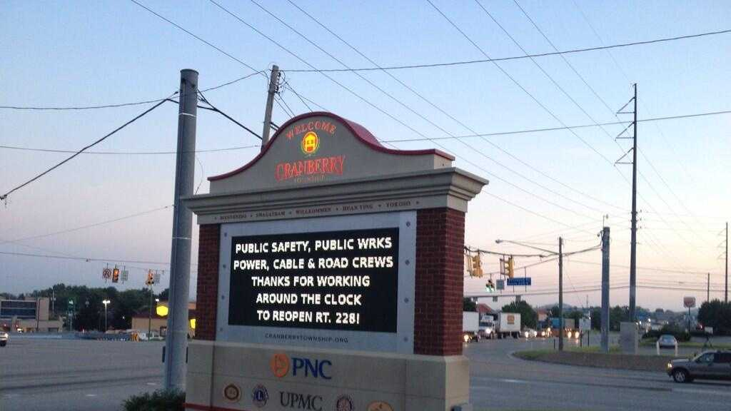 Message on Cranberry Township Sign