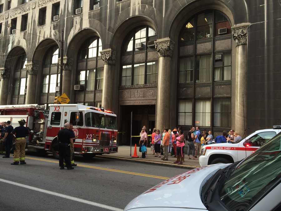 A small fire filled the County Office Building with smoke Tuesday morning.
