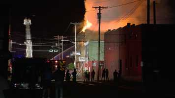 A large, smoky fire tore through Rooks Cantina 505 in Ambridge.
