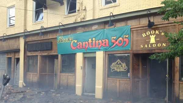 Rooks Cantina fire