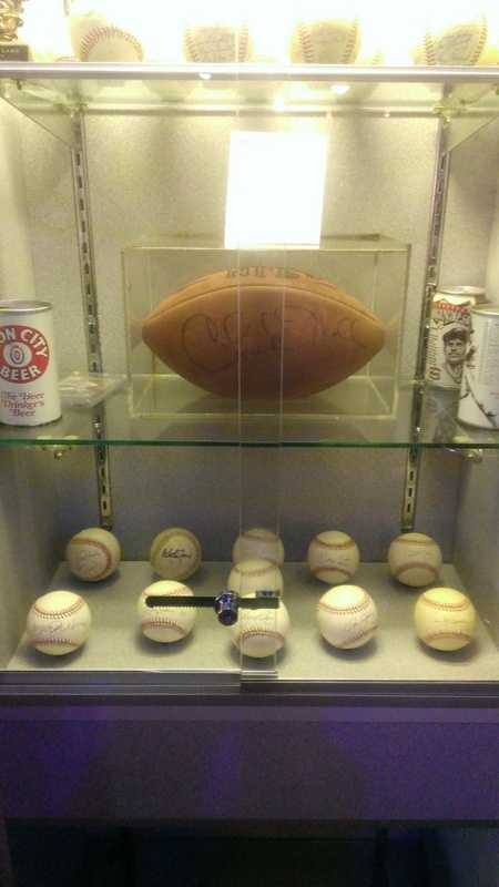 A football that had been signed by the late Steelers coach Chuck Noll and given to Jim Rooker was on display in Rooks Cantina and was destroyed by a fire at the bar.