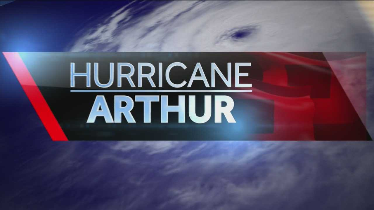 The latest on Hurricane Arthur after it made initial landfall overnight in the Outer Banks.