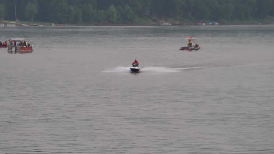 A man fell off a jet ski and went underwater Sunday on the Allegheny River in South Buffalo Township, Armstrong County.