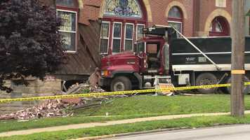 A large truck crashed into Park United Presbyterian Church on East Grandview Avenue in Zelienople.