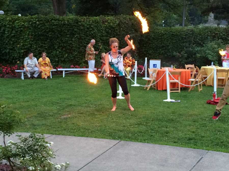 Steel Town Fire continued to heat up the night with fiery twirling performances.