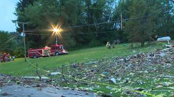 A loud blast leveled a couple's home on Louthan Road in South Beaver Township, Beaver County.
