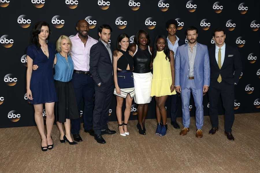"""How to Get Away with Murder"" - The cast of ABC's ""How to Get Away with Murder"" at Disney ¦ ABC Television Group's Summer Press Tour 2014. (ABC/Todd Wawrychuk) KATIE FINDLAY, LIZA WEIL, BILLY BROWN, JACK FALAHEE, KARLA SOUZA, VIOLA DAVIS, AJA NAOMI KING, ALFRED ENOCH, CHARLIE WEBER, MATT MCGORRY"
