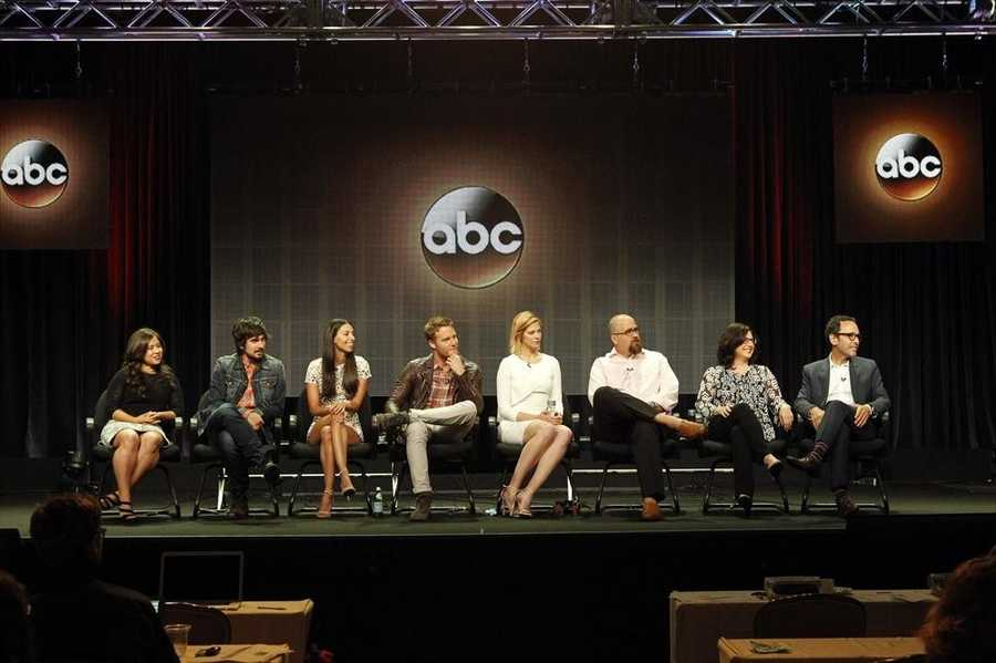 """TCA SUMMER PRESS TOUR 2014 - """"Manhattan Love Story"""" Session - The cast and producers of ABC's """"Manhattan Love Story"""" addressed the press at Disney ¦ ABC Television Group's Summer Press Tour 2014. (ABC/Rick Rowell) CHLOE WEPPER, NICOLAS WRIGHT, JADE CATTA-PRETA, JAKE MCDORMAN, ANALEIGH TIPTON, JEFF LOWELL (CREATOR/EXECUTIVE PRODUCER), ROBIN SCHWARTZ (EXECUTIVE PRODUCER), PETER TRAUGOTT (EXECUTIVE PRODUCER)"""