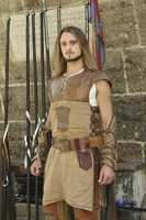 """Christian Sochor (23, Server from New York, NY) The young New Yorker was drawn to comic book heroes at an early age. A skilled and imaginative competitor who has showcased his sword fighting talents in the New York Renaissance fairs, Christian has even created his own themed parties to watch the """"Lord of the Rings."""" (ABC/Rick Rowell)"""