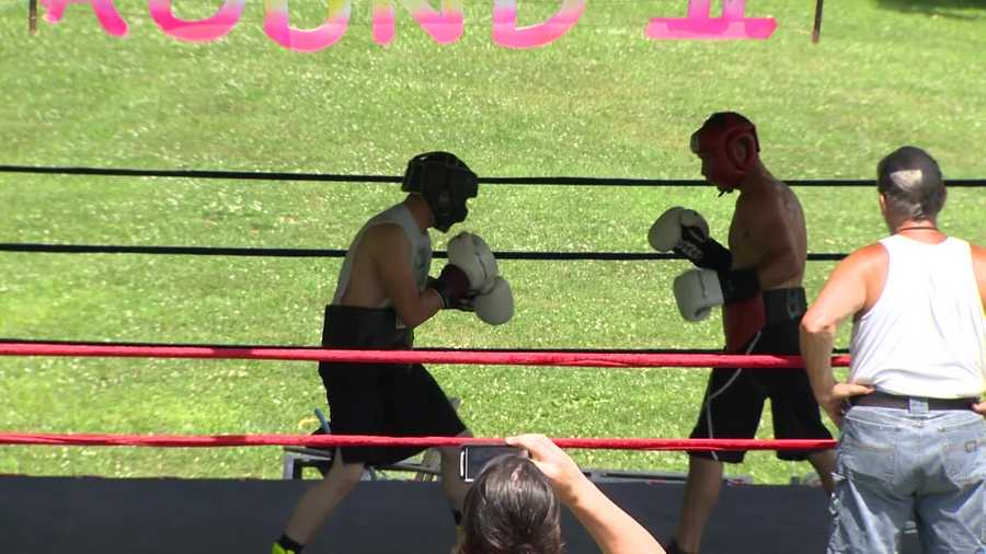 Rod Salka trains at Buzz Jr.'s Round 2 boxing camp.