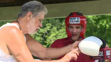 Trainer Buzzy Garnic works with Rod Salka.