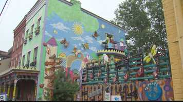 Randy Gilson's home on the North Side just may be the most colorful place in Pittsburgh.