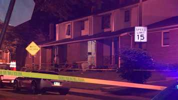 Police said a fight between a man and a woman escalated and shots were fired.