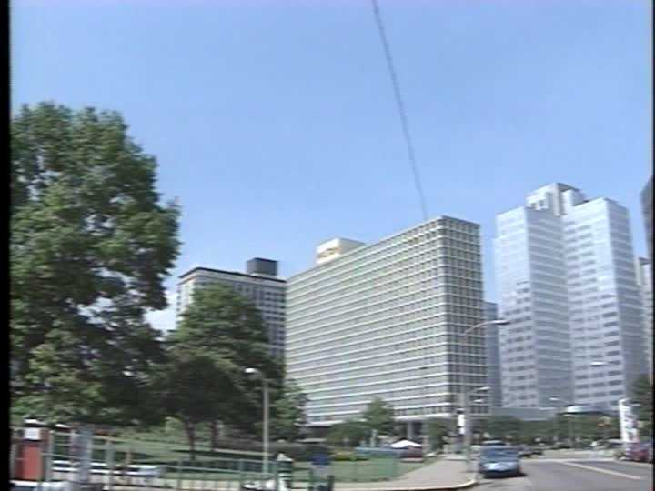 From 1994: A shot of the area near Point State Park and Gateway Center, as seen from Commonwealth Place.