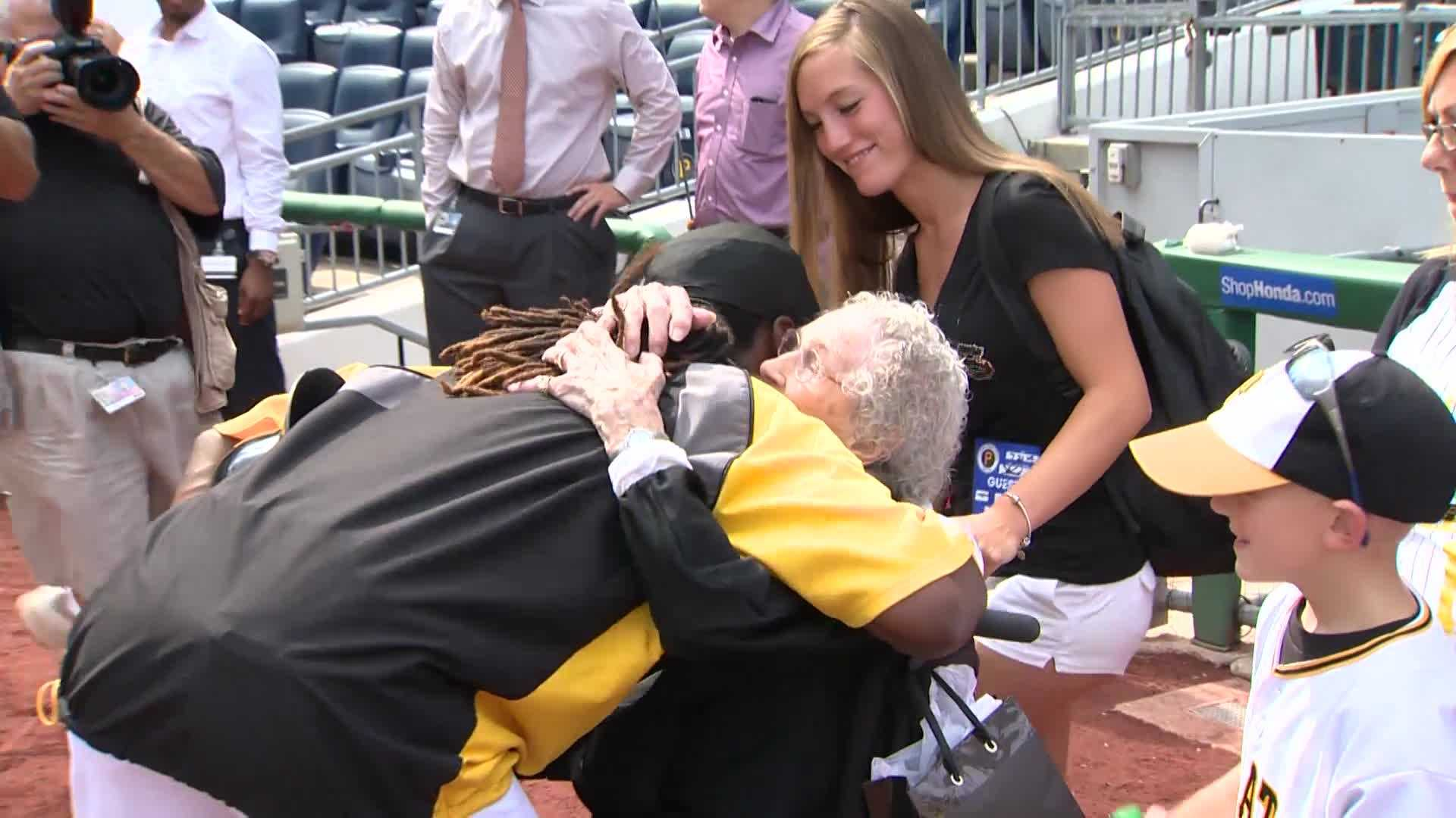 Green, who celebrated her 100th birthday June 5, is a big Pirates fan and an even bigger fan of Cutch.