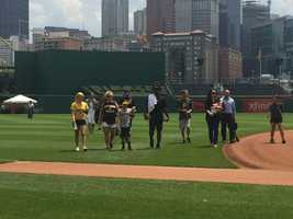 He and his family even got to enjoy a picnic with Cutch in center field at PNC Park.