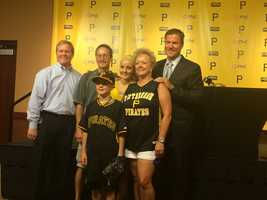 Colorado native Matthew Beichner and his family visited the Pittsburgh Pirates and PNC Park on Tuesday.
