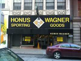 Honus Wagner Sporting Goods was directly across Forbes Avenue from the Warner Centre. This was the placeto be in 1994 if you were looking for the newest Pirates and Steelers gear, ormerchandise likeStarter jackets and hats of non-Pittsburgh teams, which were hard to find in the days before online shopping.
