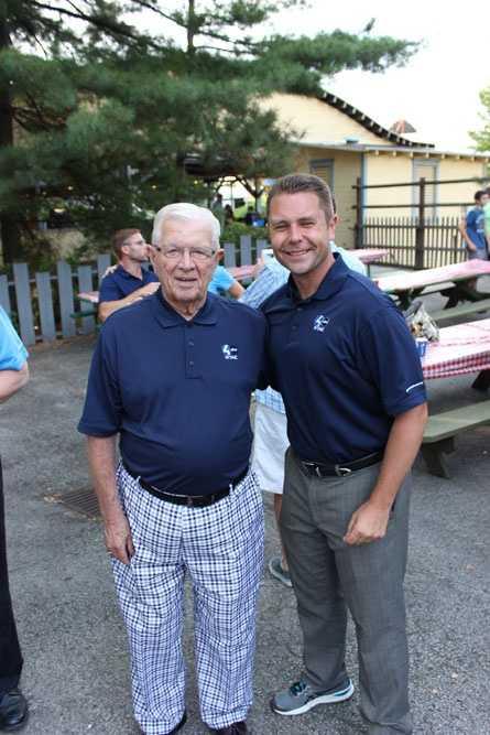 WTAE Legendary retired Chief Meteorologist Joe DeNardo, and Pittsburgh's Action Sports' Ryan Recker before the start of the Summerfest Parade.