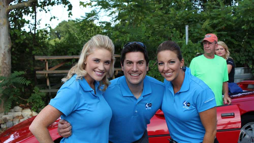 Pittsburgh's Action News This Morning Weekend Anchor Jackie Schafer with Pittsburgh's Action Weather 4 Meteorologists Steve MacLaughlin and Ashley Dougherty before the Summerfest Parade.