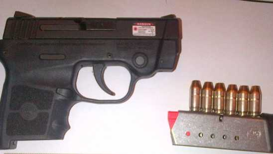 This .380 caliber Smith & Wesson firearm was found in carry-on luggage at Pittsburgh International Airport.
