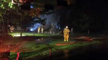 A mobile home went up in flames on Pleasant Avenue in Harrison Township.