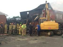 Sharon's Restaurant & Lounge was left in ruins by a late-night fire in Blairsville.