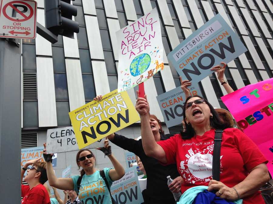 Environmentalists also came out in support of the proposed new regulations to combat what they say is man-made climate change caused by carbon-based pollution.