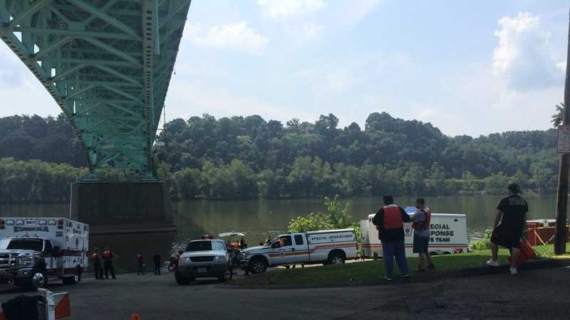 Recovery teams searched for a man with a pending court hearing who may have jumped off the Tarentum Bridge.