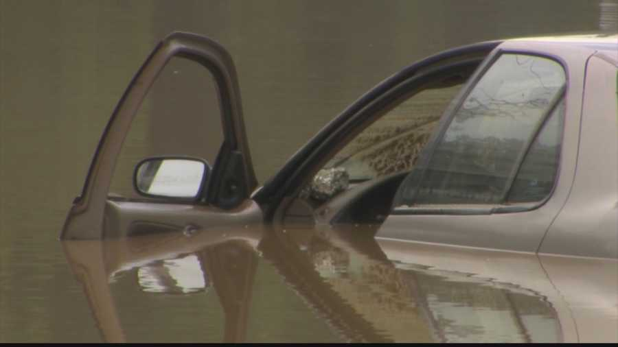 The driver put her windows down, which is something that firefighters say should never be done by anyone who gets caught in a flood inside a vehicle. Keep the car sealed and wait for help.