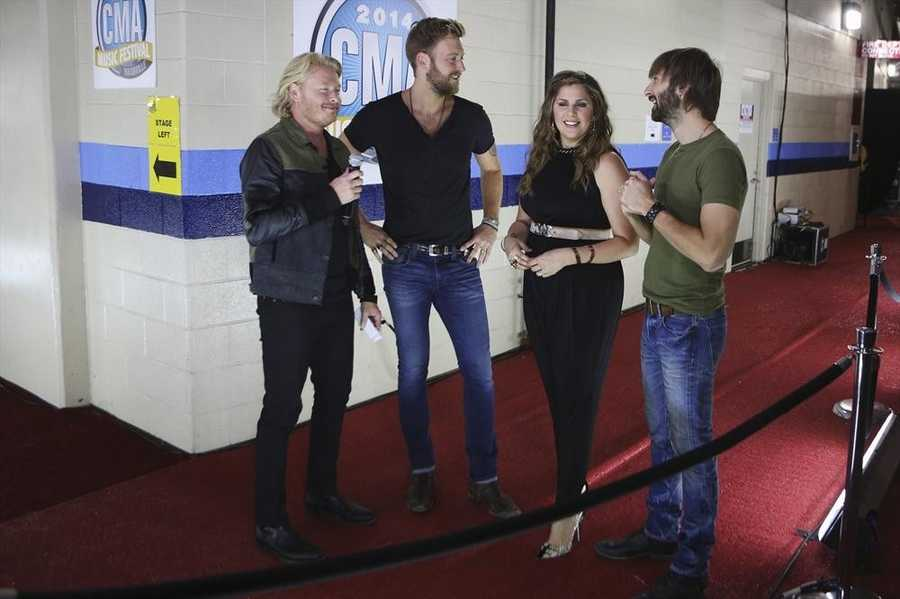 """PHILIP SWEET OF LITTLE BIG TOWN, LADY ANTEBELLUM -- CMA MUSIC FESTIVAL: COUNTRY'S NIGHT TO ROCK - The ABC Television Network airs """"CMA Music Festival: Country's Night to Rock"""" on TUESDAY, AUGUST 5 (8:00-11:00 PM/ET). (ABC/Mark Levine)"""