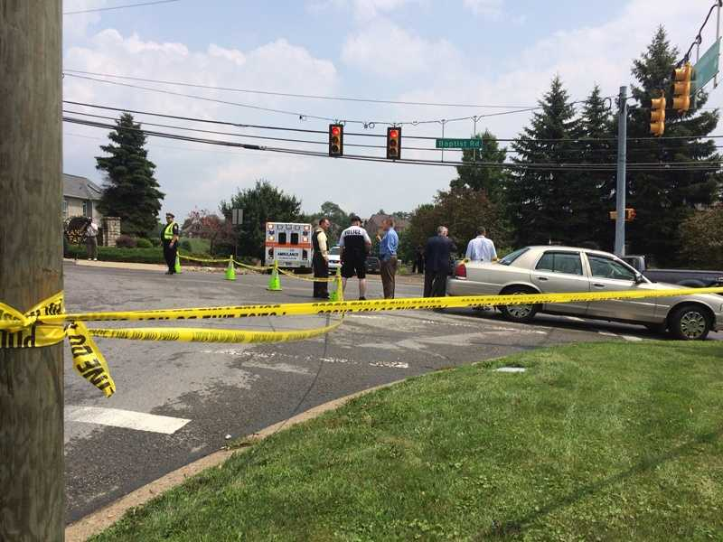 Shots were reportedly fired near the intersection of Baptist Road and Higbee Drive in Bethel Park.