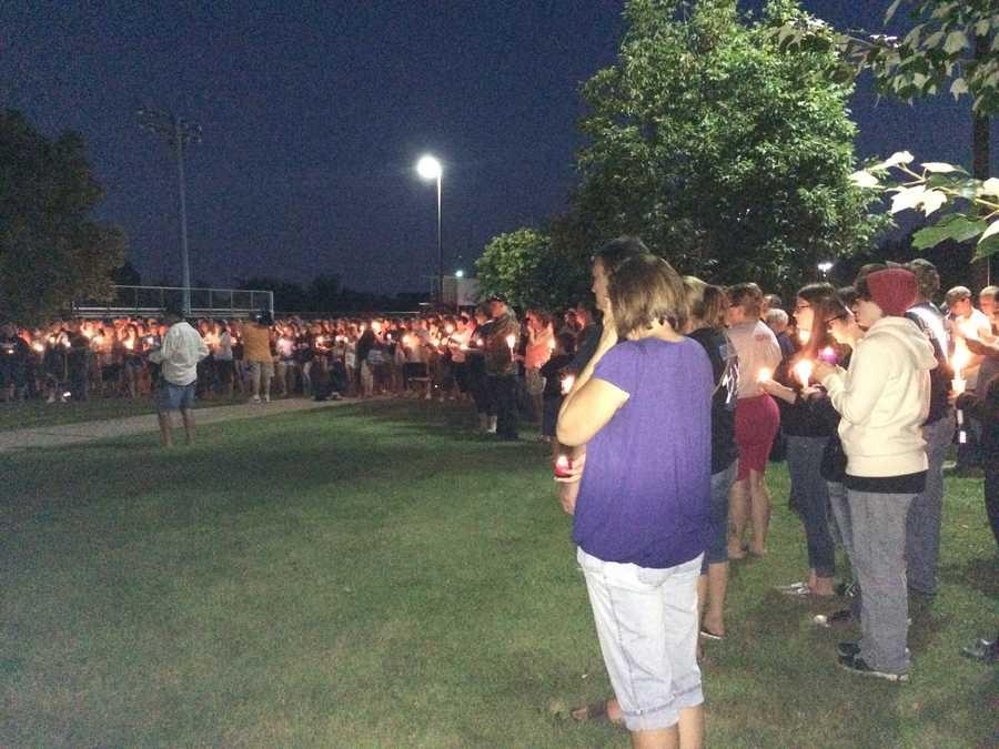 The Noah Cornuet vigil at Burrell High School.