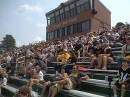 Steeler Nation watches the team practice at Chuck Noll Field
