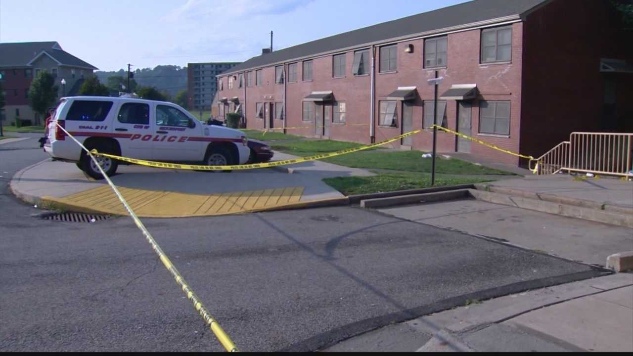 The victim was identified as 37-year-old Anthony Robertson. He was found at Harrison Village.