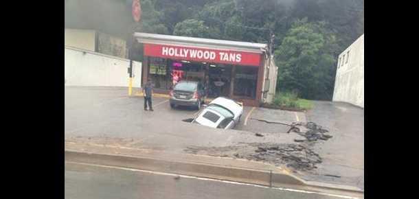 Sinkhole on McKnight Road in Ross Township