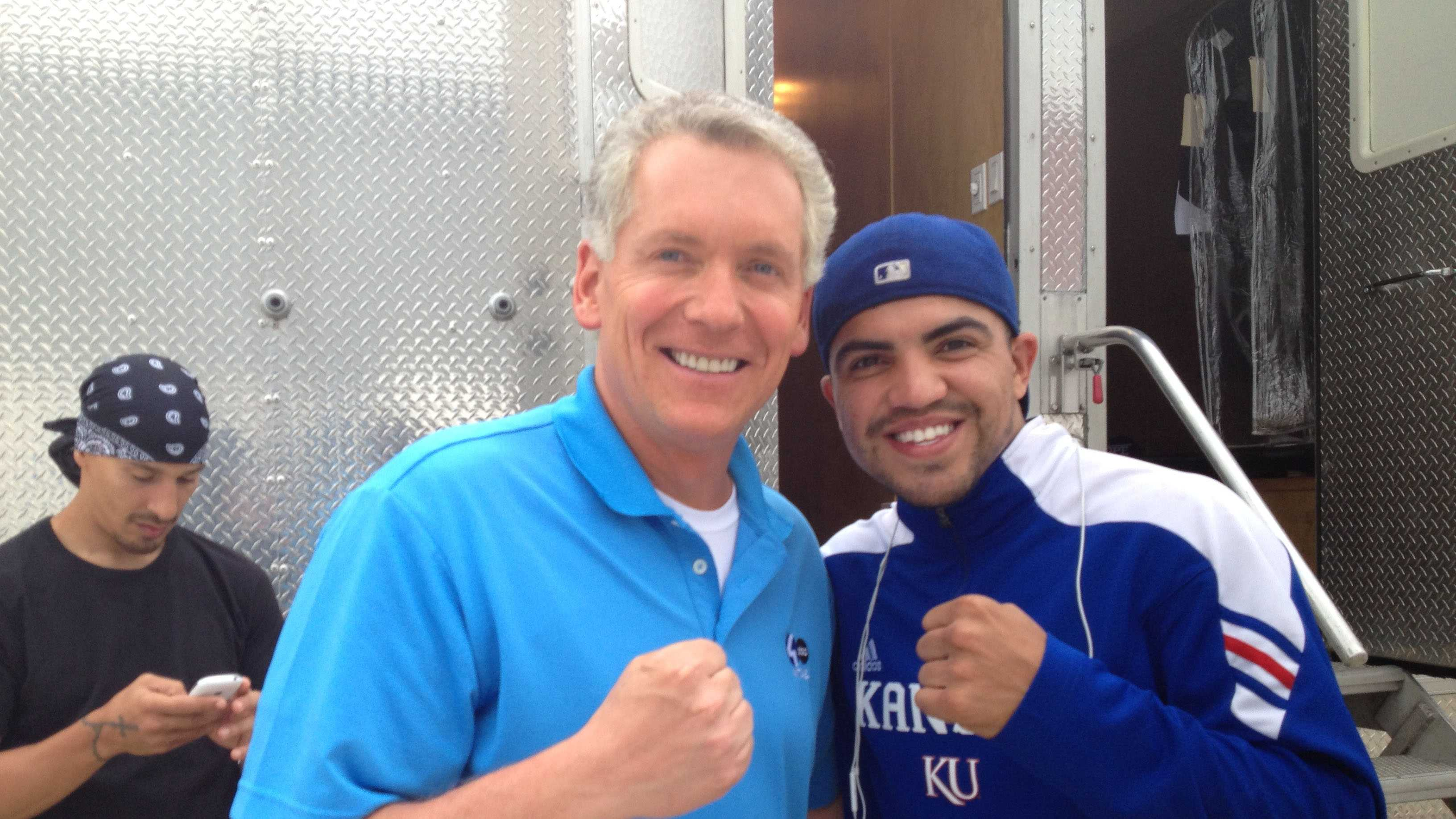 "Mike meets boxing great Victor Ortiz. Victor was a contestant on ""Dancing with the Stars"" last year and can currently be seen in ""Expendables 3."""