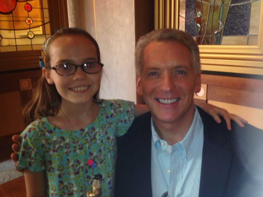 "Mike says ""Happy Birthday"" to actress Oona Laurence. The 12-year-old actress will steal your heart in the movie!"