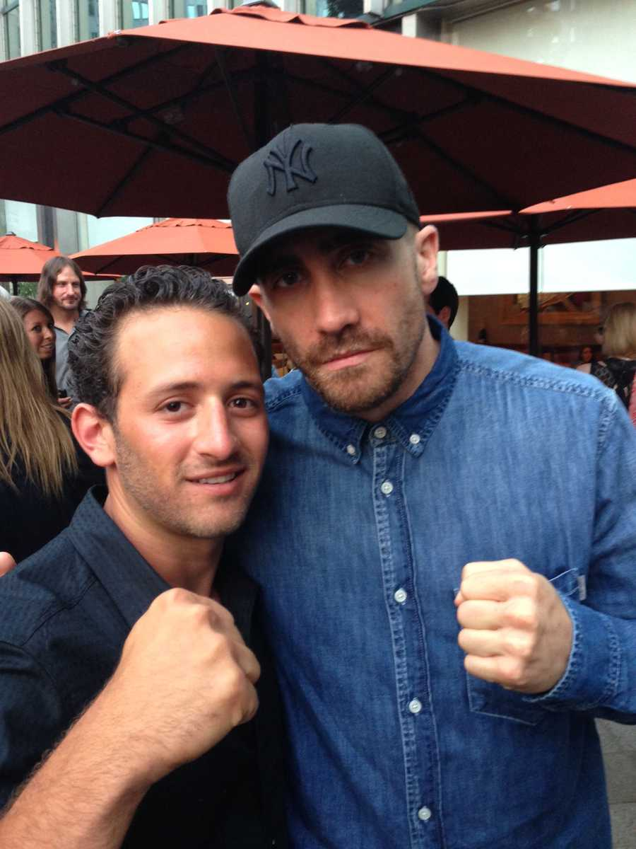 Two boxing buds -- Vito and Jake. (Could Vito be the next Sly Stallone?)