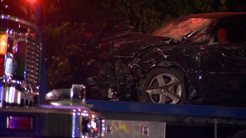 Despite the damage, the driver of the car that the suspect hit was not believed to be seriously injured.