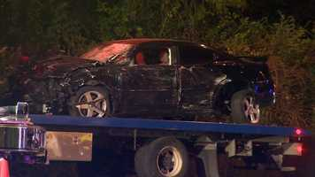 The other car was also damaged badly in the crash.