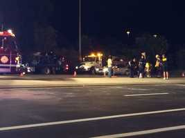 A police chase ended with a crash in Robinson Township that sent two teenagers to a hospital Thursday night.