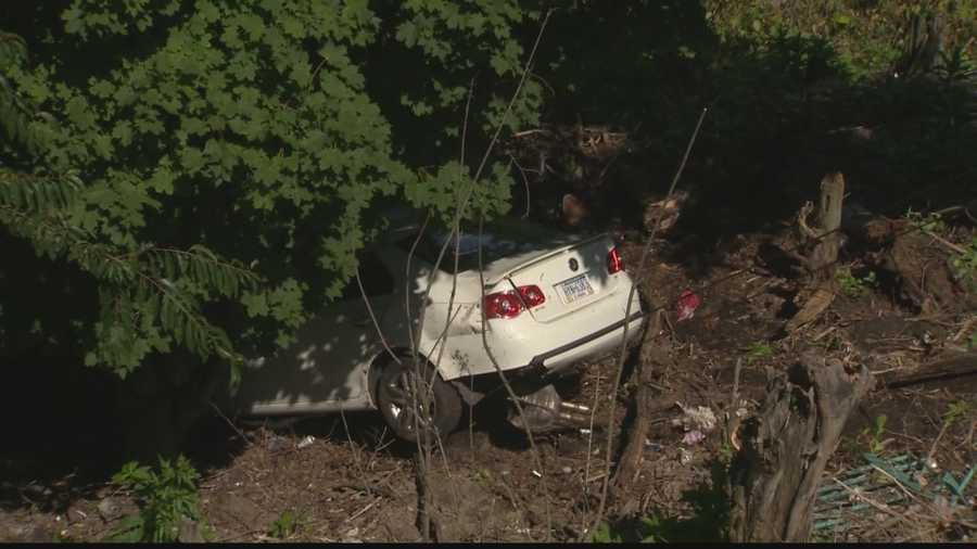 After rescuing the driver, it was time to bring his wrecked car up the hillside.