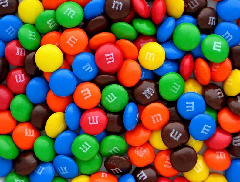 M&M's (1941) -- Originally packaged in a tube for U.S. soldiers, this treat sold for about five cents a tube or bag. A bag these days averages about 69 cents.