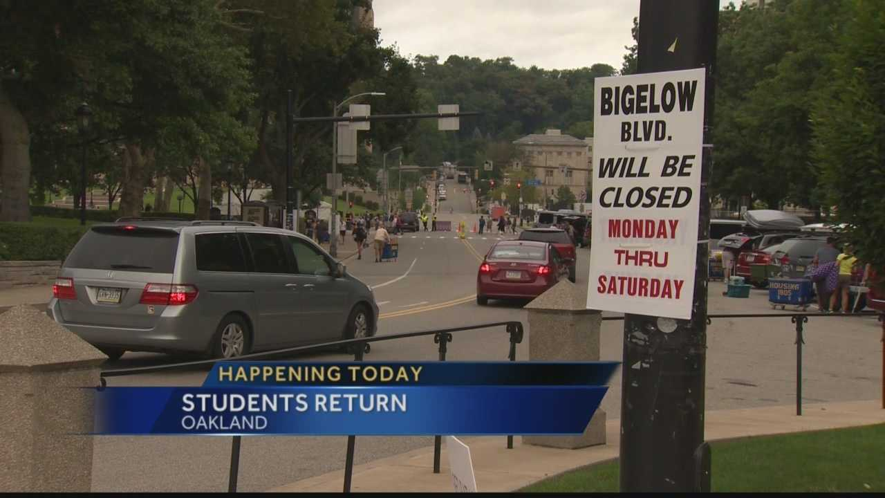 Pitt traffic students moving in