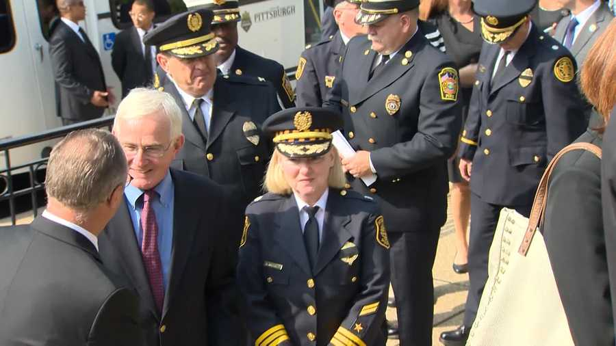 Former Pittsburgh Mayor Tom Murphy and Acting Police Chief Regina McDonald