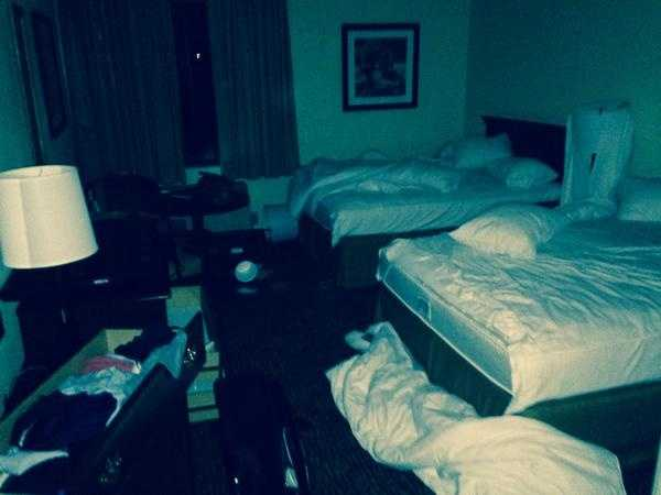 My room at Napa Valley Inn in California and the big shaking which felt like a quake.