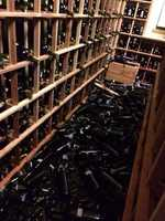 Earthquake aftermath at @SilverOak winery here in Napa